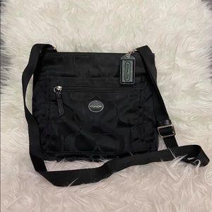 Coach nylon crossbody bag